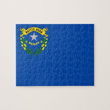 Puzzle with Flag of Nevada State