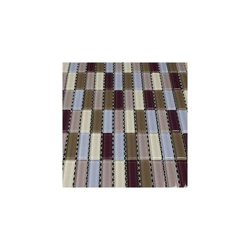 Martini Mosaic Aria Glass Frosted Mosaic in Berry Wine