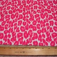 Hot Pink Leopard Cat Animal Spots Print Designer by fabricsamples