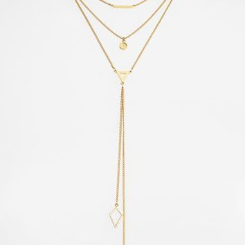 Women's Baublebar 'Facets' Layered Necklace - Gold