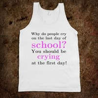 *** Schools out! *** Funny quote tank top from skreened.com by Monika Strigel
