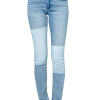 Cheap Monday Tight Printed Patch Blue Jean