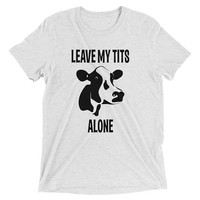 Vegan T Shirt, Vegan Gift, Leave My T*ts Alone, Gift For Vegans, Vegan Activist, Animal Rights