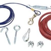 Titan Aerial Dog Run Tie-Out Cable System 25 ft