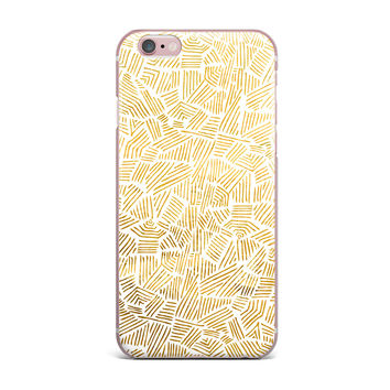 "Pom Graphic Design ""Inca Gold Trail"" Yellow Brown iPhone Case"
