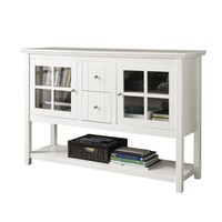 "52"" Wood Console Table TV Stand - White"
