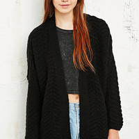 Pins & Needles Zig-Zag Chunky Cardi - Urban Outfitters