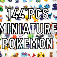144pcs Random Pokemon Mini Figurines for Terrariums Crafts Decoden Charms and More FREE SHIPPING