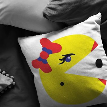 Classic Gaming Mrs. Pacman Pillow