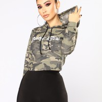 Baby Girl Hoodie - Camouflage