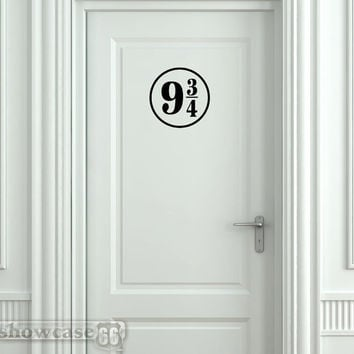 Platform 9 3/4 Medium - Vinyl Wall Art - FREE Shipping - Fun Harry Potter Inspired Wall Decal