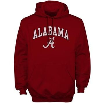 Mens Cardinal Alabama Crimson Tide Arch Over Logo Hoodie