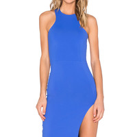 Donna Mizani Racer Front Midi Dress in Lapis