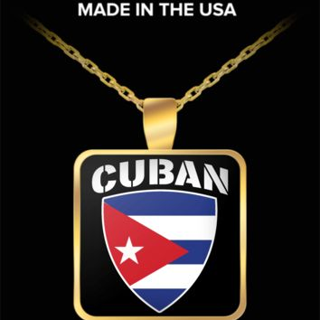 CUBAN PRIDE GOLD PLATED NECKLACE
