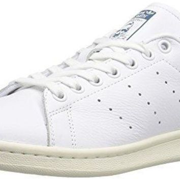 adidas Originals Women's Stan Smith w Fashion Sneaker, White/White/Core Blue S, 11 M U