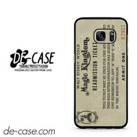 Disney World Readmission Ticket DEAL-3455 Samsung Phonecase Cover For Samsung Galaxy S7 / S7 Edge