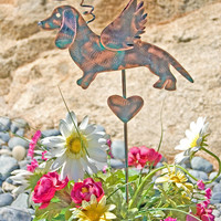 Dachshund Pet Grave Marker / Garden Stake / Metal Garden Art / Yard Art / Copper Art / Pet Memorial / Dog Sign