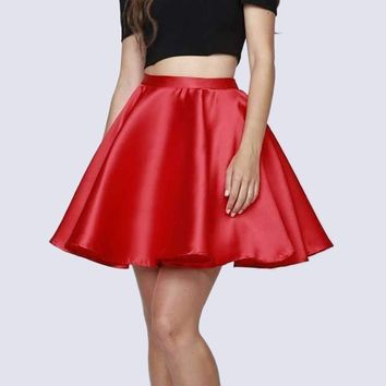 Short Cold-Shoulder Homecoming Two-Piece Dress Red
