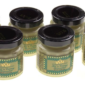 Williamette Valley Mustard Hot N Creamy Horseradish Lot of 6 Jars 3.25 oz