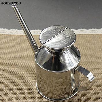 Stainless Steel Oil Can Seasoning Bottle Oil and Vinegar Gravy Boats Condiment Kitchen Tools & Gadgets Soy Sauce and Vinegar