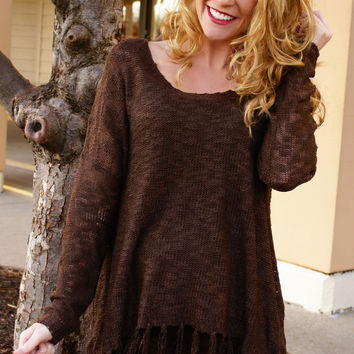 Make You Mine Top: Brown