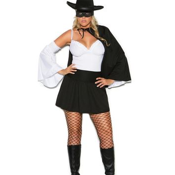 Daring Bandit - 5 pc. costume includes mini dress, cape, arm bands, hat and mask.