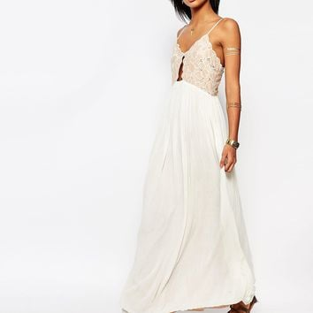 Tularose Bryce Maxi Dress with Lace Bodice at asos.com