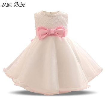 Newborn Baby Girl Dress 2018 Flower Girl Kids 1 Year Birthday Party Clothes Infant Princess Costume Dress Kids Vestidos For 0-2Y