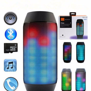 New Pulse speaker pill bluetooth speaker Bluetooth audio wireless big sound box support TF card portable Speakers with LED light FM