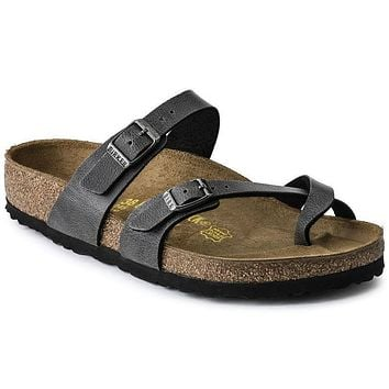 Best Online Sale Birkenstock Mayari Birko Flor Pull Up Anthracite 1005023 Sandals