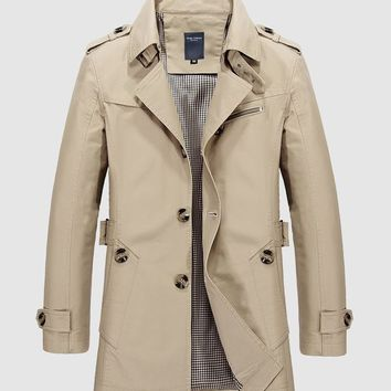 Lapel Men Trench Coat
