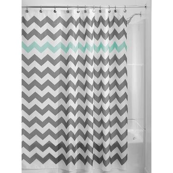 grey and turquoise shower curtain. Grey Aqua Blue White Chevron Polyester Fabric 72 inch Shower Curtain Best Products on Wanelo
