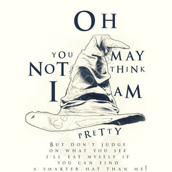 Harry Potter Movie Quote Poster - Sorting Hat Song Wall Art - Magical Inspiration -  A4 POSTER Digital Print - Pretty