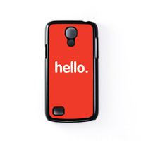 Hello Black Hard Plastic Case for Samsung Galaxy S4 Mini by textGuy