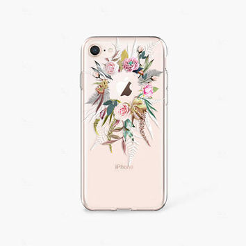 Floral iPhone X Case Clear iPhone 8 Case Floral iPhone 7 Plus Clear Samsung Galaxy S8 Case iPhone X Case Clear Samsung Galaxy S9 Case