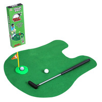 Novelty Outdoor & Indoor Potty Putter Toilet Golf Sports Game Entertainment Mini novelty Toy for men and women Sets Kids toys