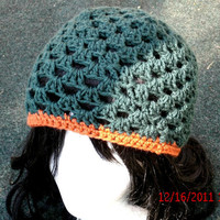 Crocheted Hat - The Twiggy in Forest - Hand crochet hat - Women's Hat - Fall Accessories