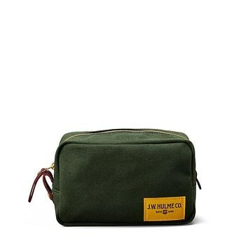 J.W. Hulme - Heritage Signature Green Canvas Dopp Kit