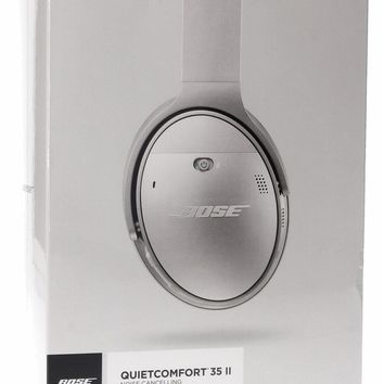 Bose QuietComfort 35 (Series II) Wireless Headphones, Noise Cancelling - Silver