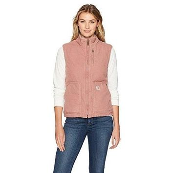 Carhartt Women's Sandstone Mock Neck Vest, Burl Wood