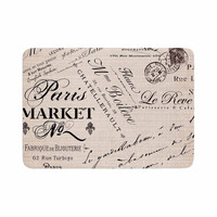 "Sylvia Cook ""French Script"" Handwriting Memory Foam Bath Mat"
