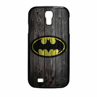 Batman Logo On Wood Samsung Galaxy S4 Case