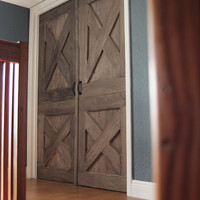 Unique Handmade Interior Rustic Wooden Barn Door