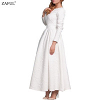 2016 White Maxi Dresses Women Party Long Casual Loose Chiffon Long sleeve Dress Plus Size
