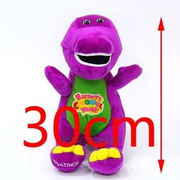 """Barney & Friends Barney Sing"""" I LOVE YOU"""" song Plush Toys Soft Stuffed Animal Dolls Gifts for Children 12inch 30cm"""