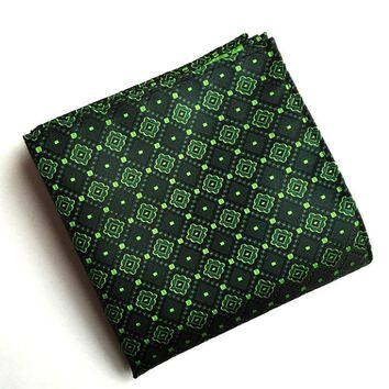 Mantieqingway Handkerchief Pocket Square for Women Fashion Vintage Floral Pocket Towel Male Polyester Silk Business Suits Hanky