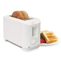 Traditional White 2-Slice Toaster Dorm Cooking Appliances College Stuff Heat Fun Quick Meals