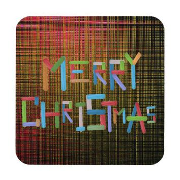 Merry Christmas Drink Coaster