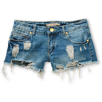 Highway Jeans River Destructed Denim Shorts