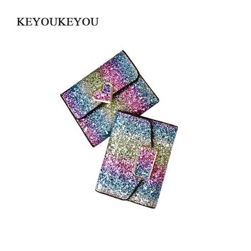 Luxury Glitter Women Wallet Hasp Clutch Purse Small Leather Pu Ladies Wallets Carteira Female Photo Card Holder Women Money Bag